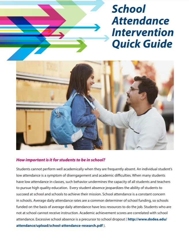 Image of School Attendance Intervention Quick Guide