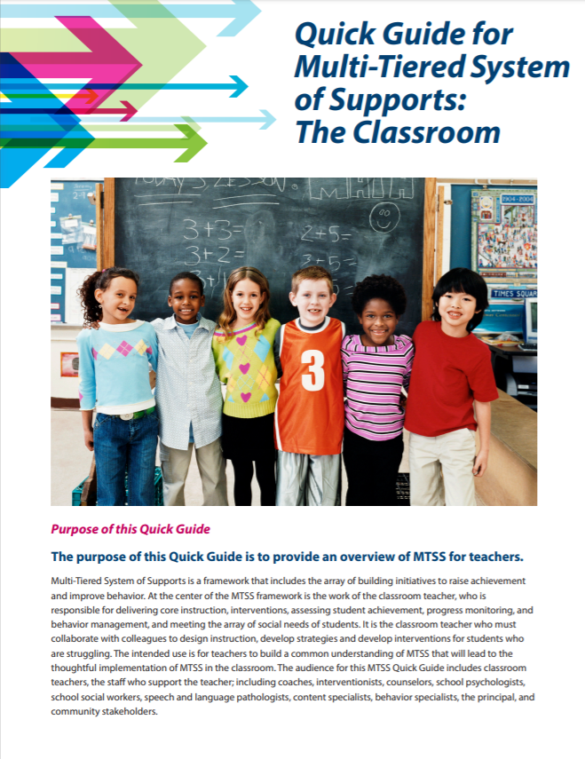 Image of MTSS Quick Guide for Classroom