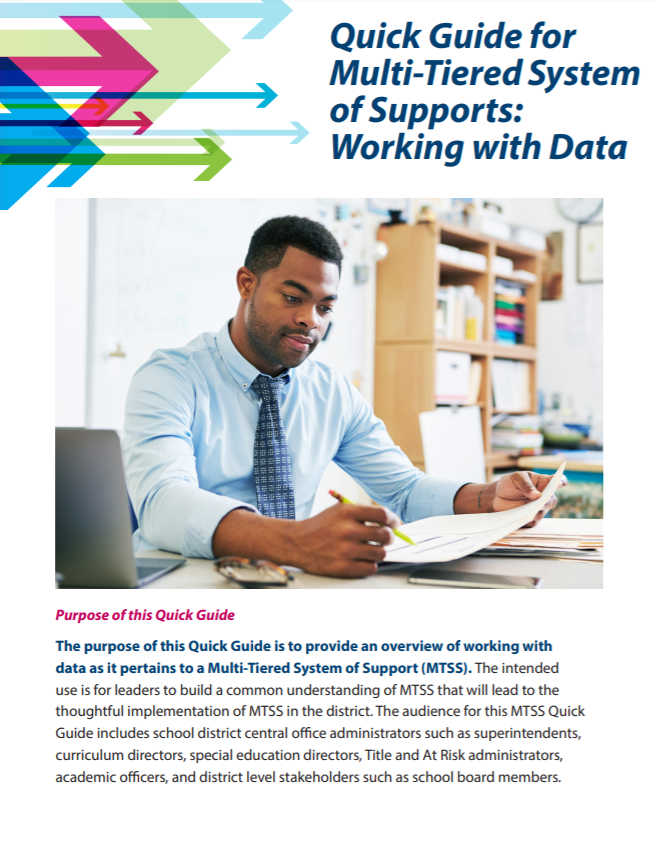 Image of Quick Guide for MTSS: Working with Data