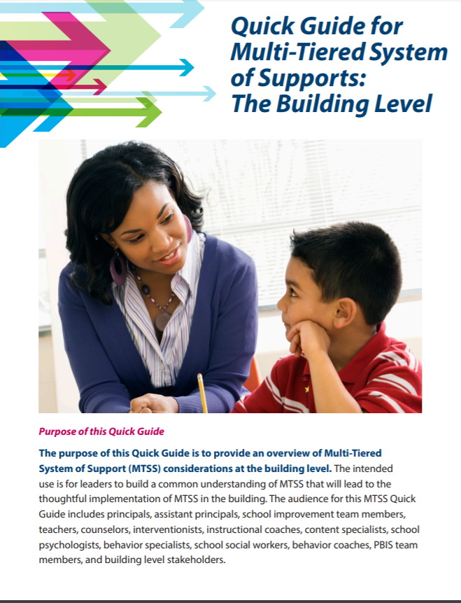 Image of MTSS Quick Guide: Building Level