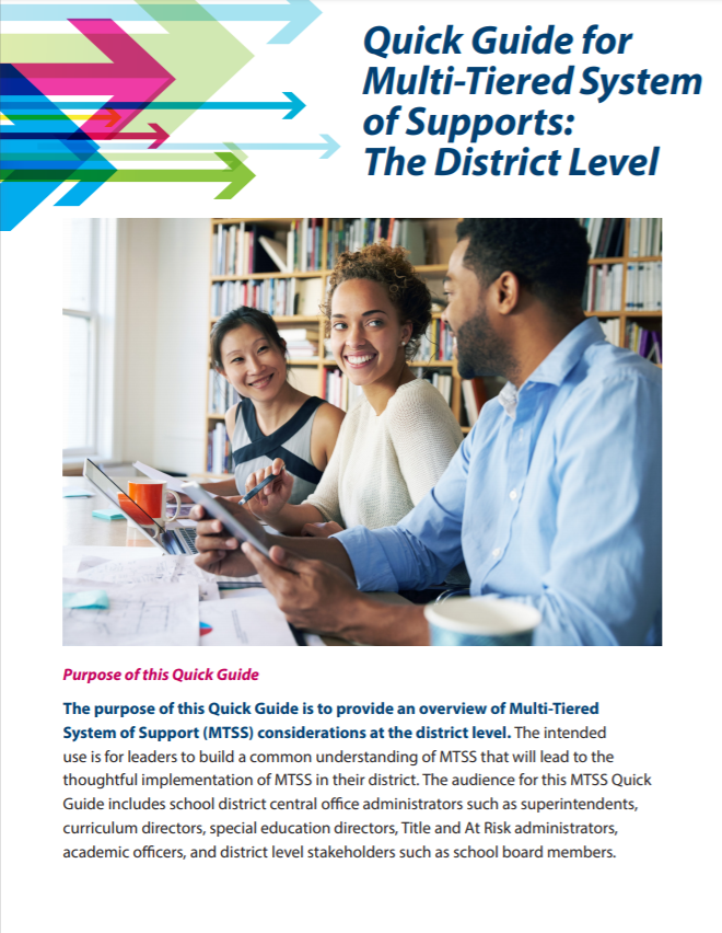 Image of Quick Guide for MTSS: The District Level